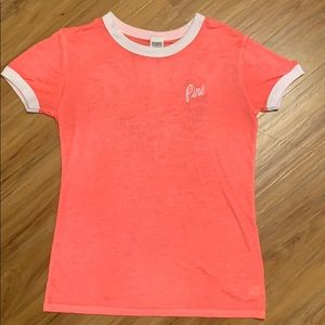 Bright pink/orange T-shirt from Pink